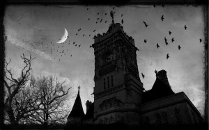 gothic-castle-ravens-night