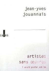 artistes sans oeuvres