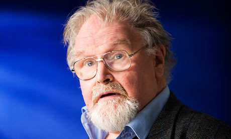 Alasdair Gray photographed before speaking at the Edinburgh festival