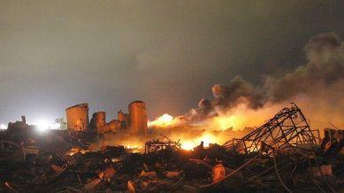 Ruines en flammes