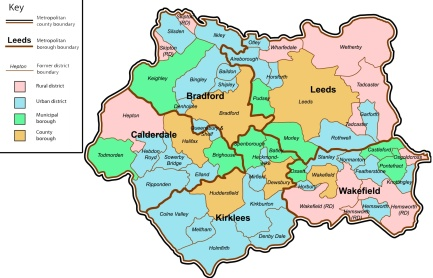 West Yorkshire Map