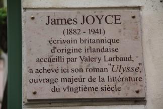 Plaque commemorative Joyce