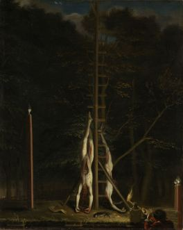 The corpses of the brothers De Witt, on the Groene Zoodje at the Lange Vijverberg in The Hague, 20 August 1672